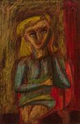 Hugh Mesibov, Girl in Armchair, 1946-47