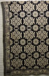 LADY'S FANCY pattern jacquard coverlet woven by Jaboc Impson, New York State, 1838