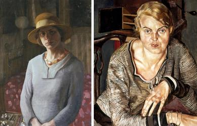 Image 1 Hilda Carline, Self-Portrait, 1923, Oil on canvas, Tate © Estate of Hilda Carline.  Image 2 Stanley Spencer, Patricia Preece, 1933, Oil on canvas, Southampton City Art Gallery © Estate of Stanley Spencer