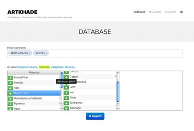 Artkhade: a new ergonomic module can guide you and help you choose the key words for your search