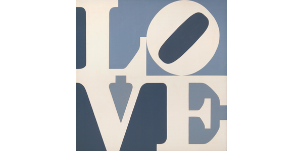 Robert Indiana, American, 1928 - 2018.  LOVE, 1967.  Oil on canvas, 48 x 48 in.  Collection of The Tobin Theatre Arts Fund , 10.2004