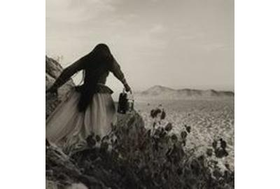 Graciela Iturbide, Mujer Angel, Desierto de Sonora, México (Angel Woman, Sonora Desert, Mexico), 1979, printed later.  Gelatin silver print.