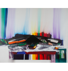 Paul Jenkins (1923-2012), Phenomena Prism Chambers, 1984, Acrylic on canvas, 77 x 96 inches.  Est.  $40,000-60,000