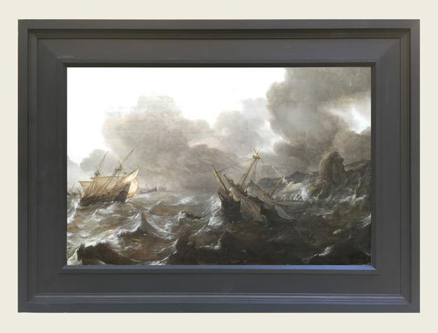 Ships in Distress on a Stormy Sea - Jan Porcellis (Image Credit: Max & Iris Stern Foundation)