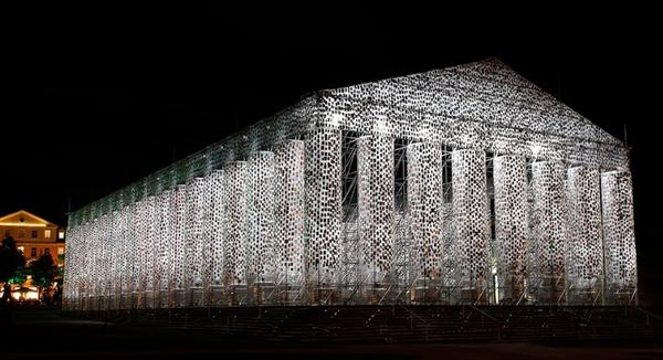 CCK, Buenos Aires, Argentina will present renowned Argentinian artist Marta Minujín, who arrives with two of her most emblematic art works: The Parthenon of Books and Rayuelarte.