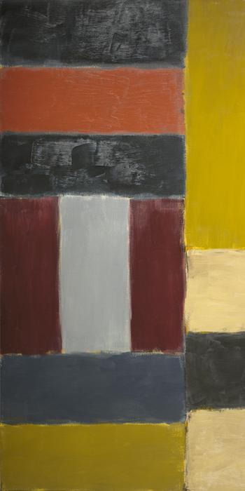Sean Scully, Wall of Light Peru, 2000, oil on linen, 110 x 132 in., Gift of Mary and Jim Patton, © 2014 Sean Scully