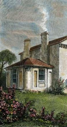 JMW Turner's Sandycombe Lodge in the early 1800s.