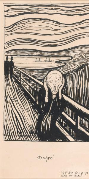 The Scream, 1895, Edvard Munch (1863-1944), Private Collection, Norway.  Photo: Thomas Widerberg