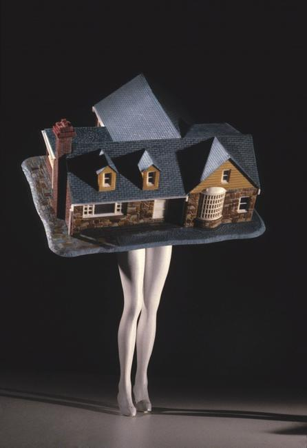 Laurie Simmons, Walking House, 1989; Chromogenic print, 64 x 46 in.; Collection of Dr.  Dana Beth Ardi; Photo courtesy of the artist and Salon 94, New York