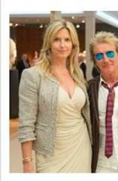 (From left to right) Penny Lancaster and Rod Stewart; Nico Landrigan, Carolina Herrera, Harry Fane and Reinaldo Herrera Guevara at the Verdura stand; Clive Owen at the Jaeger-LeCoultre stand