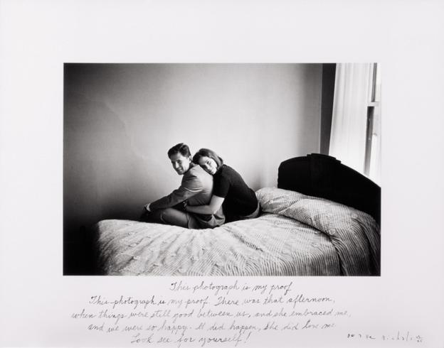 This Photograph Is My Proof, 1967.  Duane Michals.  Gelatin silver print with hand-applied text.  The Henry L.  Hillman Fund.  Courtesy of Carnegie Museum of Art, Pittsburgh.