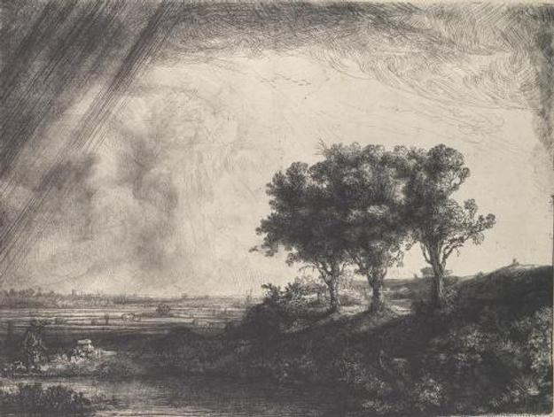 Rembrandt van Rijn.  The Three Trees, 1643.  The Metropolitan Museum of Art, H.  O.  Havemeyer Collection, Bequest of Mrs.  H.  O.  Havemeyer, 1929