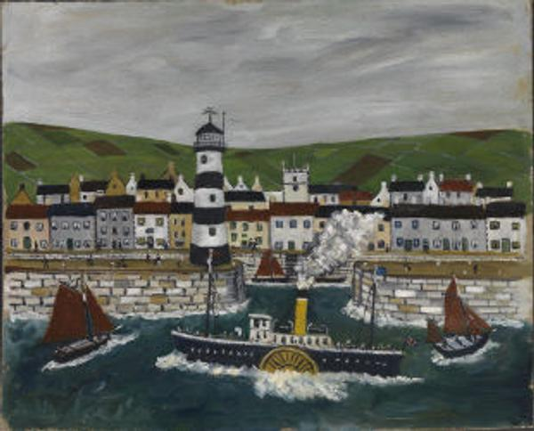 Paddle steamer leaving harbour' by Stanley Dyson