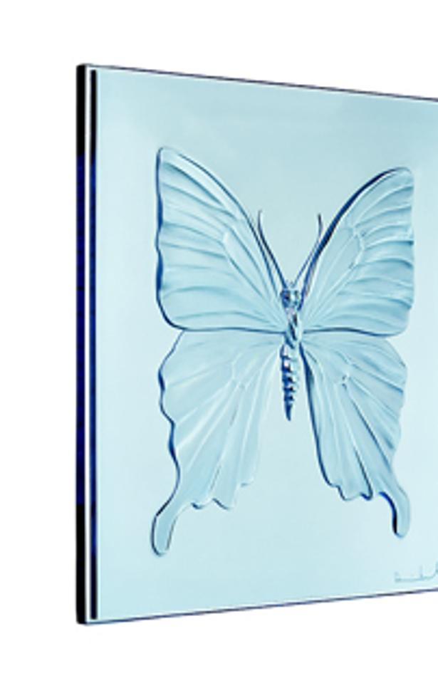 Lalique and Damien Hirst have created the Eternal collection of crystal panels: Love, Hope and Beauty.