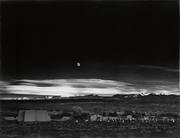 Lot 99: Ansel Adams, Moonrise, Hernandez, New Mexico, mural-sized silver print, 1941, printed early 1950s.  Estimate $200,000 to $300,000.