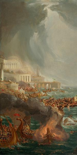 Thomas Cole's 'The Course of Empire: Destruction' (1836)