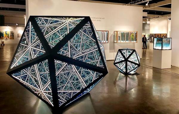 Anthony James, Portal Icosahedrons at Melissa Morgan Fine Art, LA Art Show 2019.