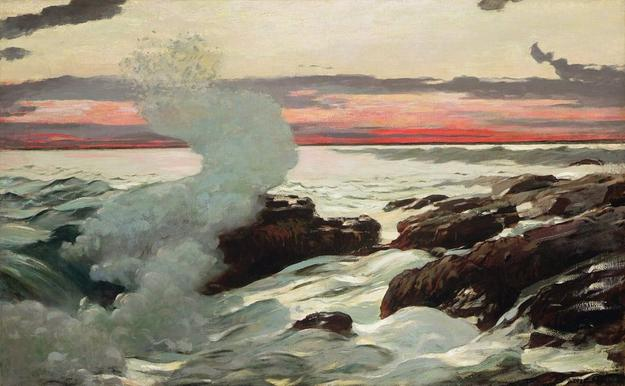 Winslow Homer's masterpiece, West Point, Prout's Neck (1900)