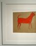 Hill Gallery sold Man in Blue Suit and Red Dog, each by outsider artist Bill Traylor, and each circa 1940.