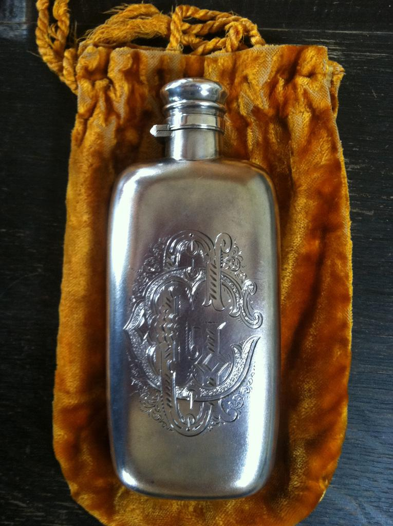 Grover Cleveland's drinking flask (Courtesy Mr.  Thomas G.  Cleveland)