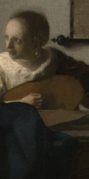 DETAIL: Johannes Vermeer (Dutch, Delft 1632–1675 Delft) ca.  1662–63.  Oil on canvas, 20 1/4 x 18 in.  (51.4 x 45.7 cm)
