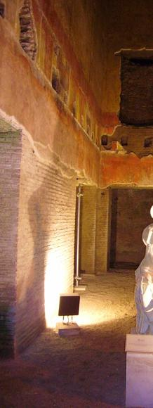 Statue of a muse in the Domus Aurea, Nero's Golden House, in Rome.
