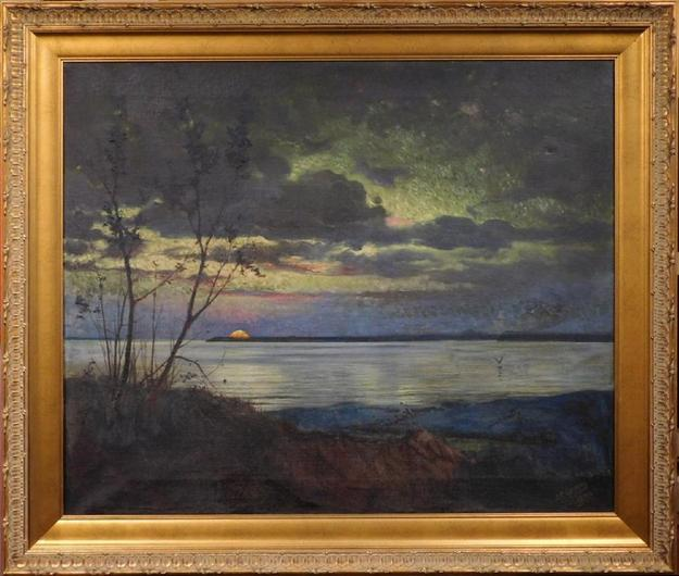 Oil on canvas painting attributed to the renowned Hudson River School artist Jasper Francis Cropsey, untitled, signed and dated 1878 (est.  $200,000-$300,000).