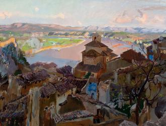 Joaquim Mir, Miravet, ca.  1929-30, oil on canvas, 86 x 112 cm