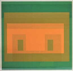 Color screenprint on Arches paper by the German-born American artist Josef Albers (1888-1976), titled I-S, VA 6, edition #90 of 150 (est.  $1,000-$1,500).