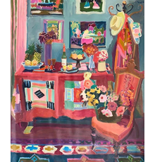 Large oil on canvas still life painting by Joseph B.  O'Sickey (American, Cleveland School, 1918-2013), done in 1979, signed, 71 inches by 59 ½ inches ($3,000-$5,000).