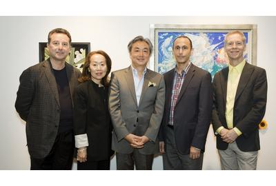 Judges of the competition with Tomoko Torii, executive director of the Harmony for Peace Foundation (second left)