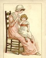 A page from an 1893 almanac also by Kate Greenaway