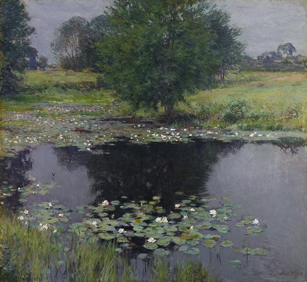 Willard Metcalf (1858–1925) Pond Lilies, 1905.  Oil on canvas.