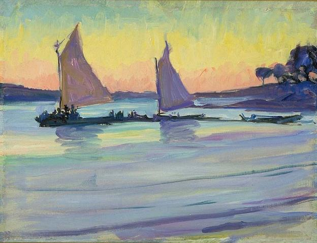 Jane Peterson, Boats on the Nile at Dawn.