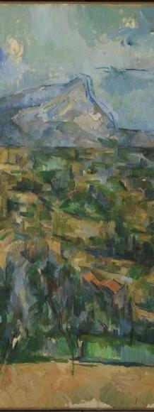 Paul Cézanne.  Mont Sainte-Victoire, ca.  1904–06.  Oil on canvas.  The Henry and Rose Pearlman Foundation, on long-term loan to the Princeton University Art Museum