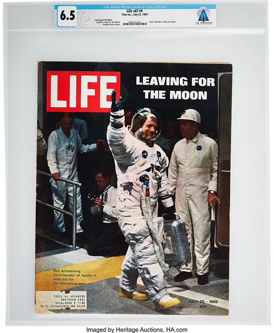 Armstrong's Personal Copy of LIFE Magazine