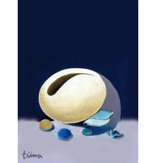 Mym Tuma, Biota Shells in the Moonlight, 1996.  Paintng Acrylic on Canvas.