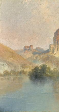 Thomas Moran, Castle Rock, Green River, Wyoming (1907)