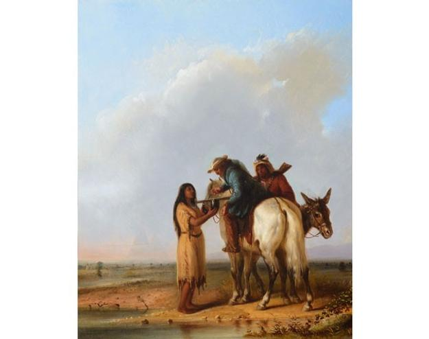 Alfred Jacob Miller, The Thirsty Trapper, 1850; Estimate $1,500,000-2,500,000