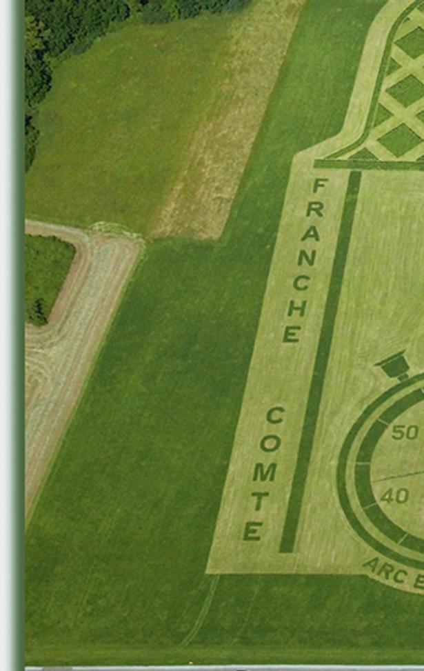 Pierre Duc and Thierry Gallibour created this cyclist in a field for the 2012 Tour de France