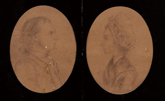 Lot 31: Pair of John Andre portraits are estimated at $50,000 to $75,000.