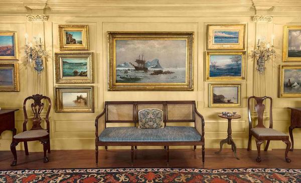 View of East Room, Peter Lynch Marblehead Neck House.  © Peabody Essex Museum.  Photography by Kathy Tarantola.