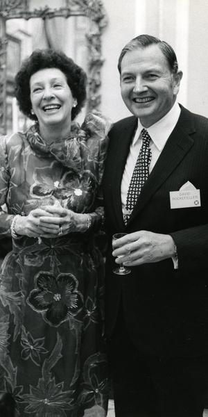 Peggy and David Rockefeller, May 1973.  Photo: Arthur Lavine/Rockefeller Estate