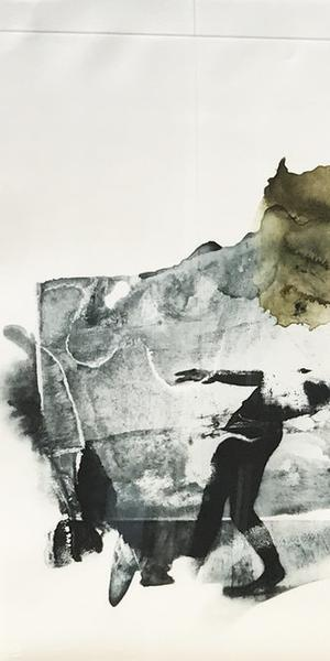 Robert Rauschenberg, Ace from Ruminations, 1999, photolithograph.  Mattatuck Museum, Waterbury, Connecticut; Purchase, Acquisition Fund, 2017.12.1.