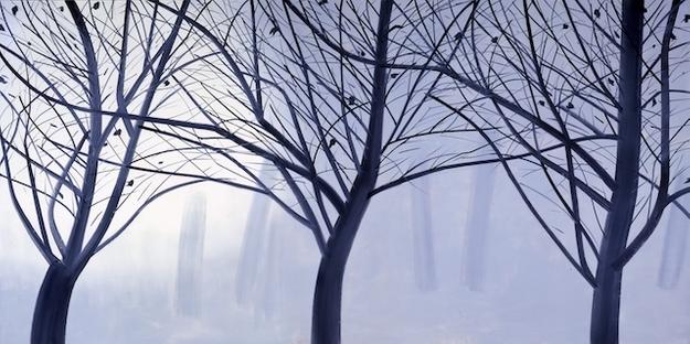 Alex Katz (American, born 1927).  Winter Landscape 2, 2007.  Oil on linen.  120 x 240 inches.  Purchase with funds from Alfred Austell Thornton in memory of Leila Austell Thornton and Albert Edward Thornton, Sr., and Sarah Miller Venable and William Hoyt Venable.  Courtesy of Richard Gray Gallery, Chicago and New York.