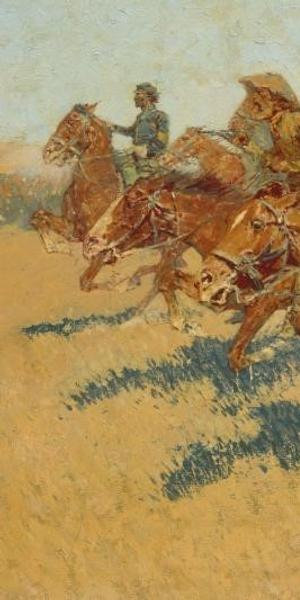 Frederic Remington (American, 1861-1909).  On the Southern Plains (detail), 1907.  Oil on canvas, 30 1/8 x 51 1/8 in.  (76.5 x 129.9 cm).  The Metropolitan Museum of Art, New York, Gift of Several Gentlemen, 1911 (11.192)