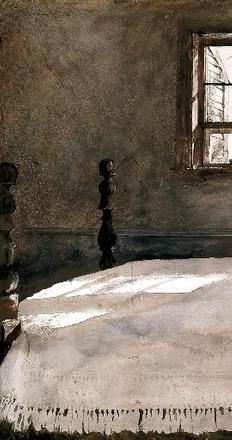 Andrew Wyeth, Master Bedroom, 1965.