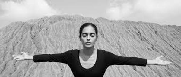 Shirin Neshat, Untitled, from Roja series, 2016.  Silver gelatin print, 40 x 92 3/4 in.  © Shirin Neshat/Courtesy the artist and Gladstone Gallery, New York and Brussels.