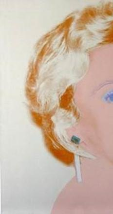 'The Socialite', by Andy Warhol, 1986-1987.  40 x 40 inches.