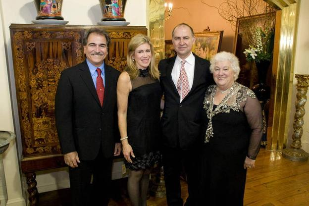 Tony Fusco of Fusco and Four with Diane Riva, Frank Kaminski and Mary Westcott of Kaminski Auctions